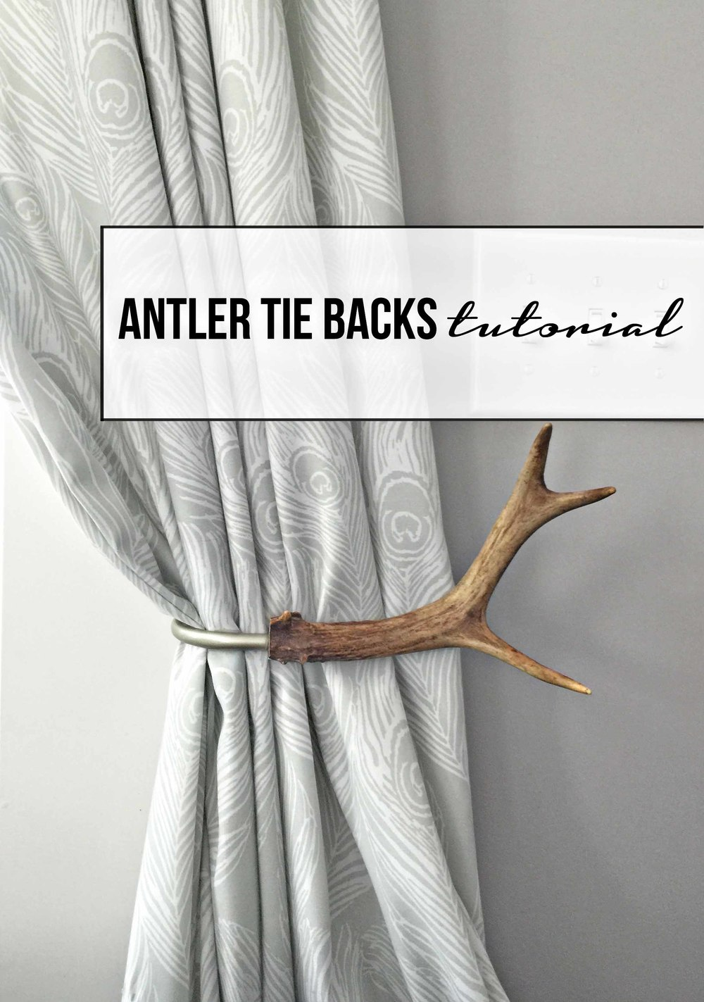 curtain tie backs tutorial how to make antler curtain tie backs tfd style 11873