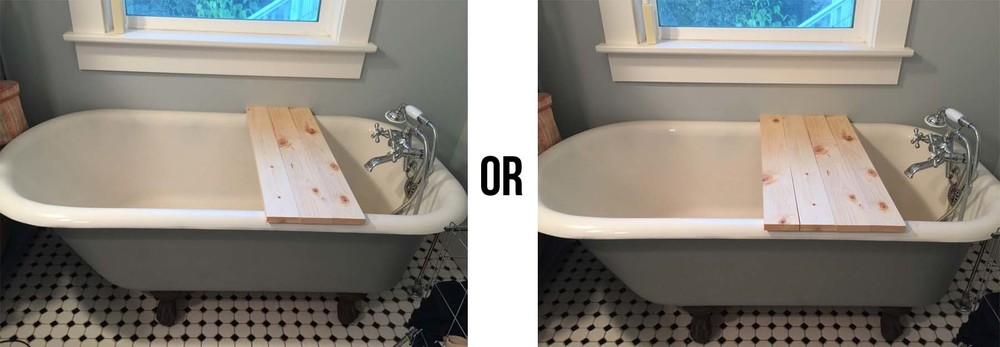 1.) Set options on tub.