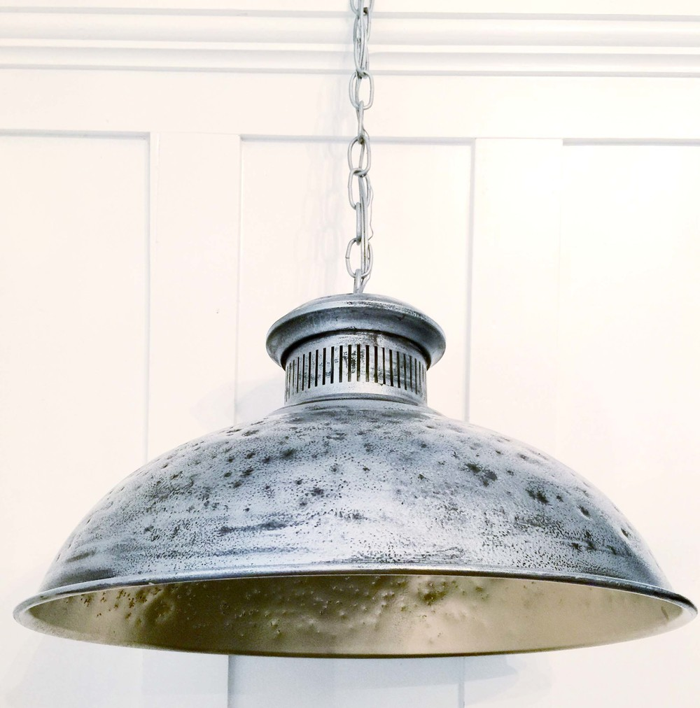Tutorial. DIY Hammered Dome Pendant Light