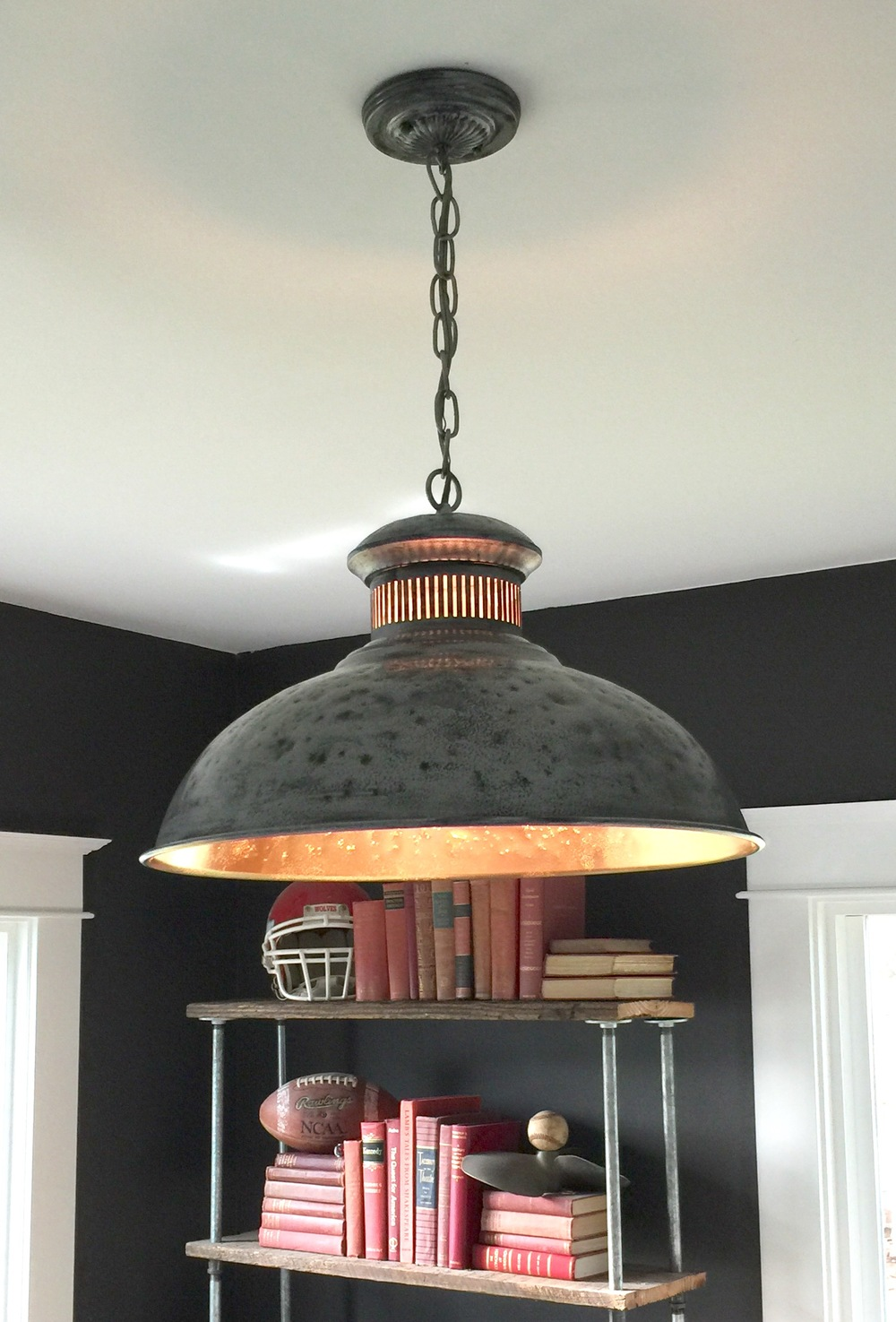 DIY Hammered Dome Pendant Light Tutorial