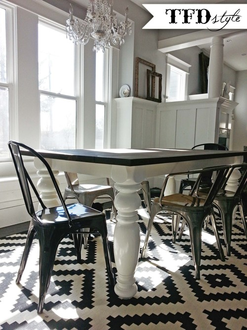 diy farmhouse dining room table — tfd style