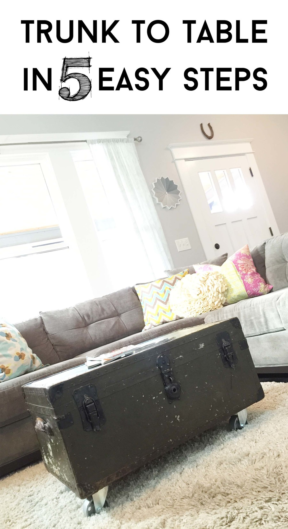 Tutorial turn a military foot locker trunk into an for How to turn a trunk into a coffee table