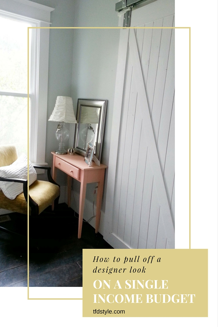 How to decorate on a single income budget