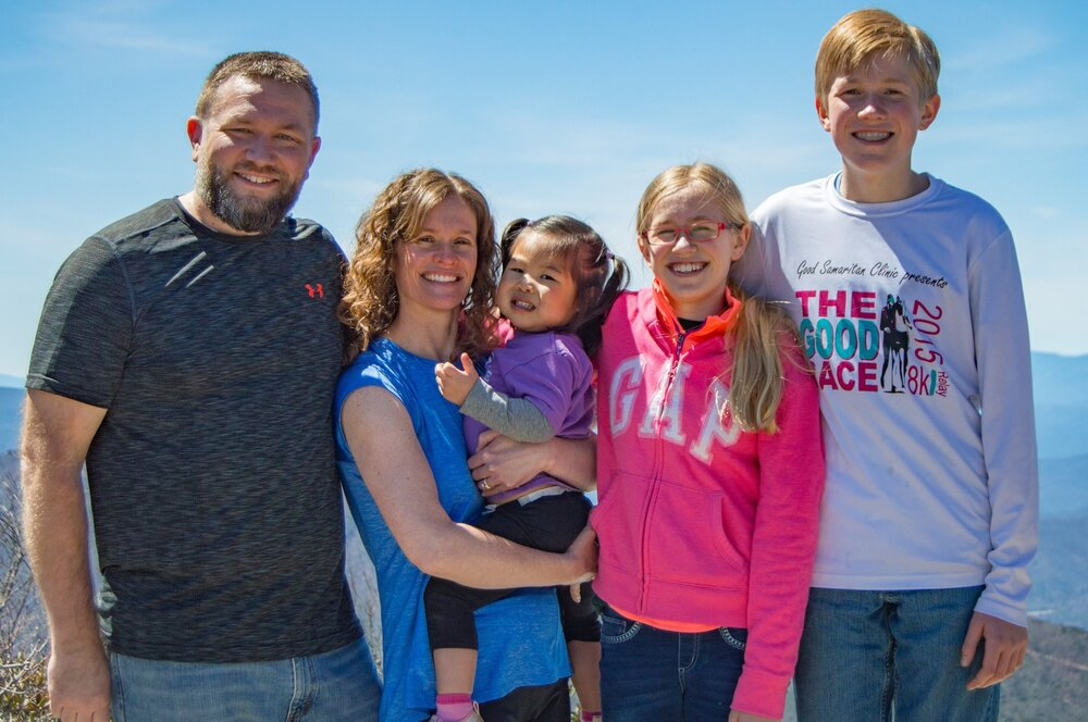 Clint & Bambi Garrison - Oak Hill Area - Clint and Bambi were married in 1998 and moved here from Virginia in 1999 to work in the public school system. Since moving here, they have been blessed with three additions to the family: Connor (2003), Jenna (2006) and Emery (2015). Bambi works part time as a speech pathologist and full time as a homeschool mom. Clint works in IT at Continental in Morganton.