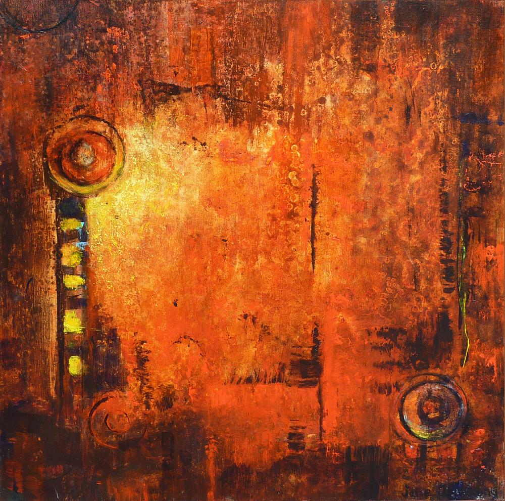 Fire Acrylic 24 x 24