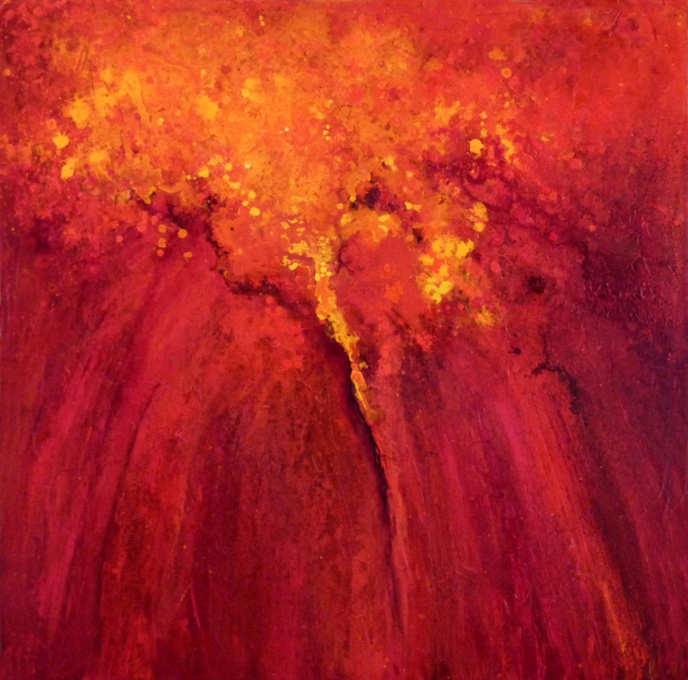 Fire Within Acrylic 40 x 40 Sold