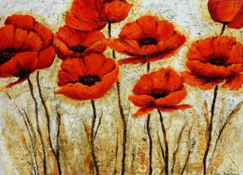 Scarlet O'Haras Acrylic 36 x 48 Sold