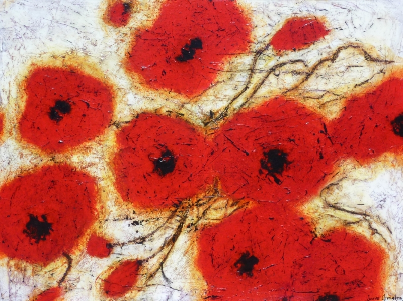Poppies on Parade Acrylic 36 X 48