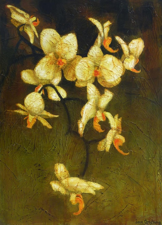 Orchidea Acrylic 40 x 30  Sold