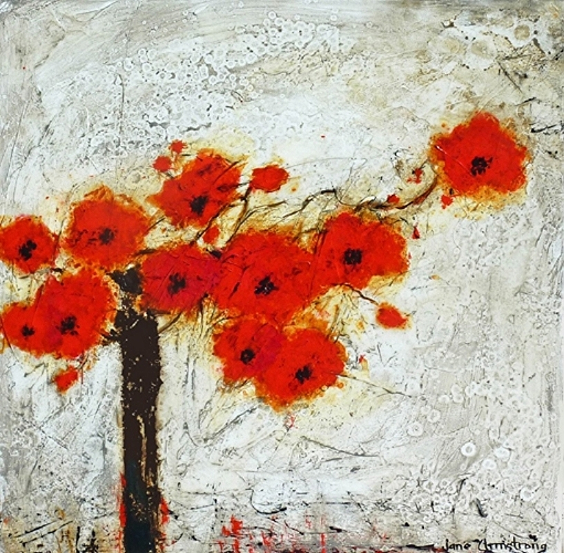 Poppy Poetry Acrylic 30 X 30