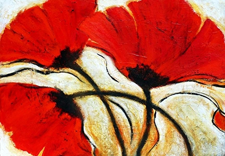 Flaming Trio Acrylic 36 X 48