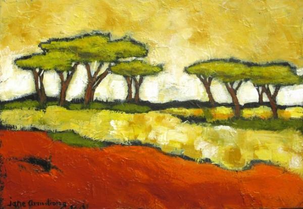 African Landscape Acrylic 18 x 24