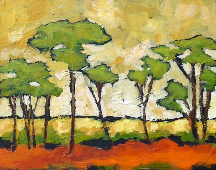 Acacias Acrylic 36 x 48 Sold