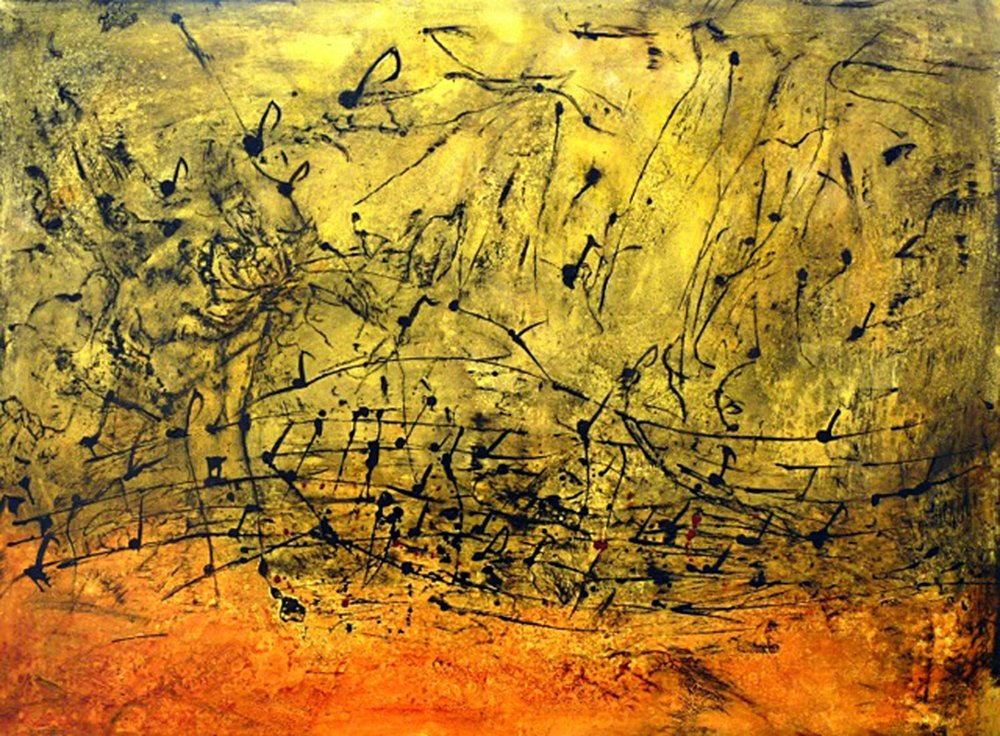 Let the Music Fly Acrylic 36 x 48 Sold