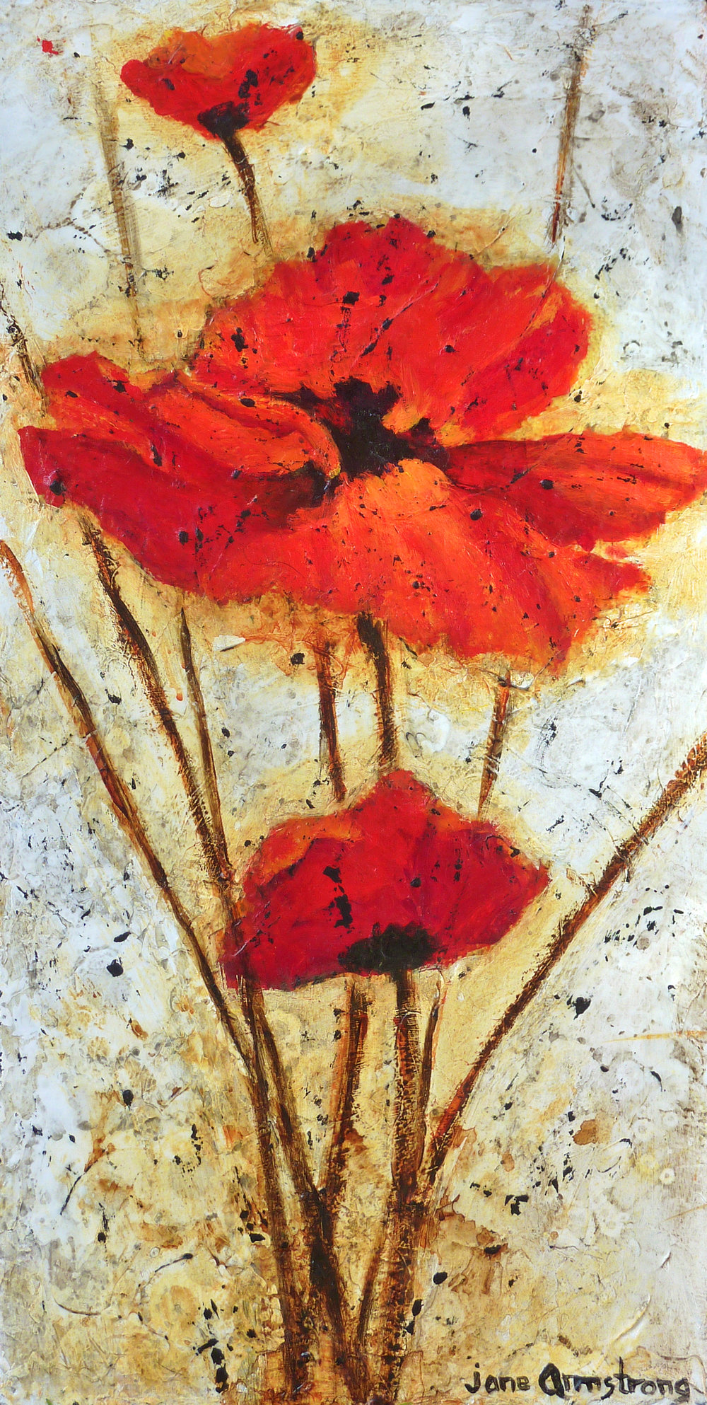 Fiery Reds Acrylic 24 x 12