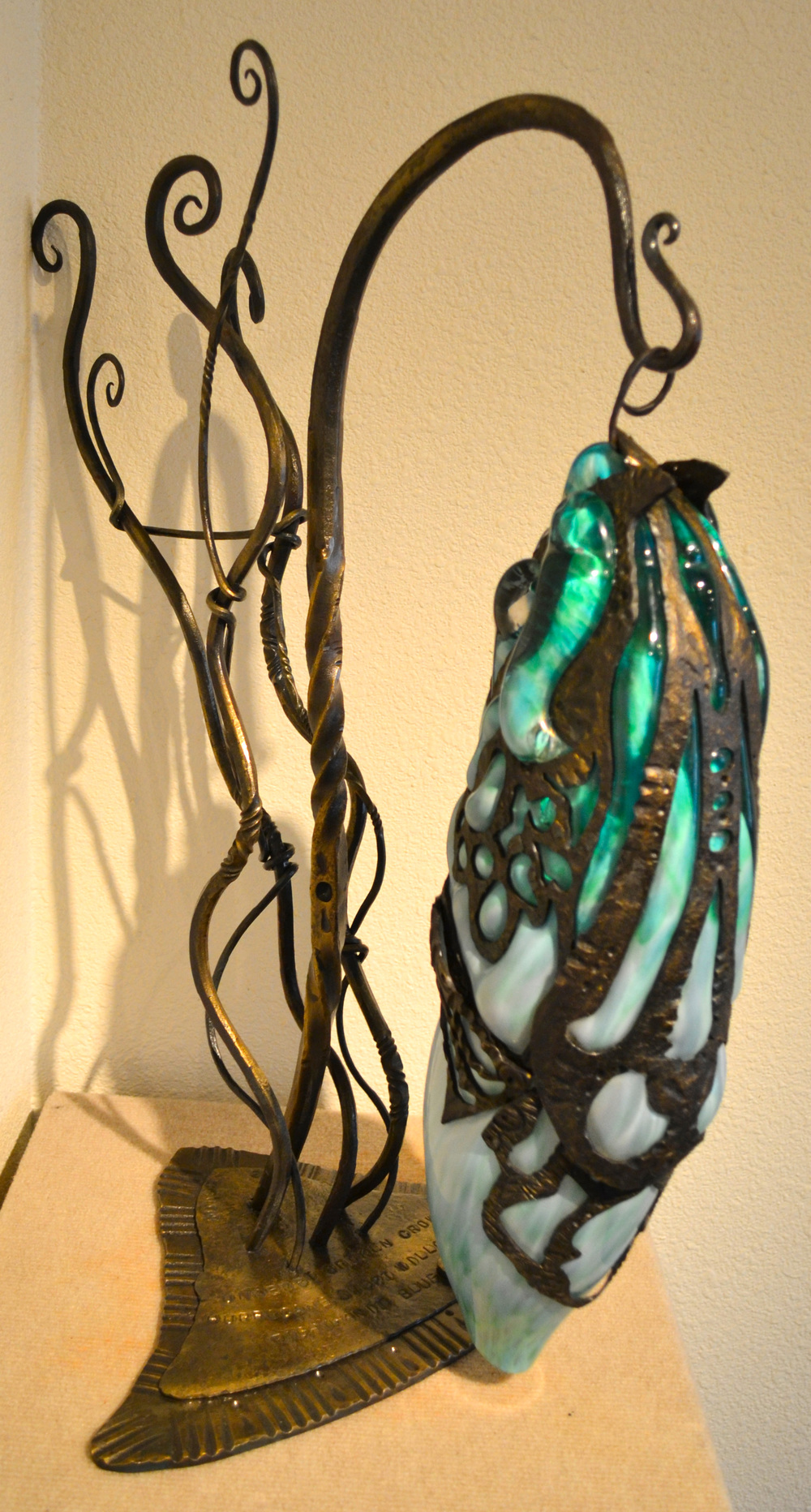 Constricted Glass Sculpture
