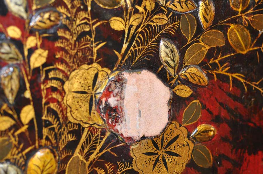 flaking gilded decoration