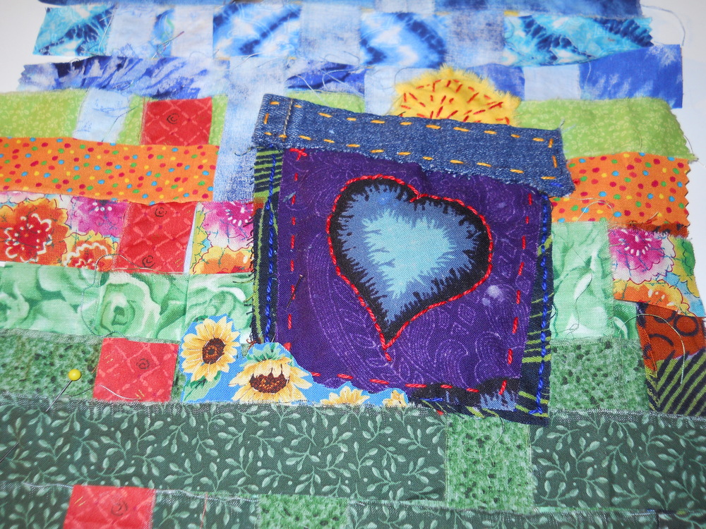 Door to My Heart. (c) Kaitha Het Heru.  Hand Woven Fabric Strips.