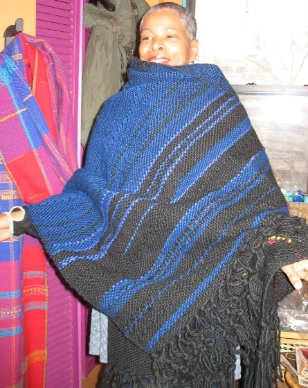 Night Sky. (c) Kaitha Het Heru. Khamit Cloth Handwoven Body Wrap.