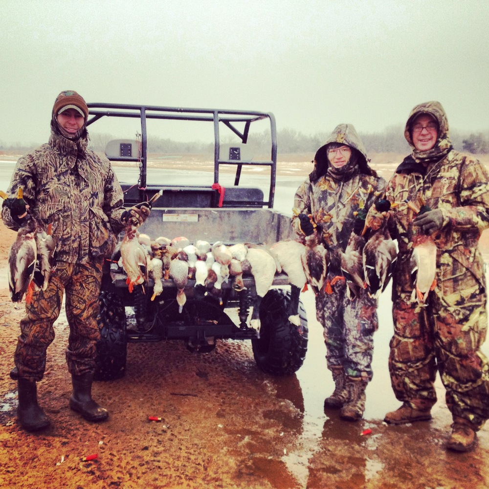 Duck hunt at the 7 O Ranch on the cimarron river.