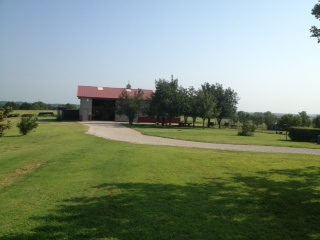 This the barn and the pear orchard.  The bunkhouse is located n the barn.