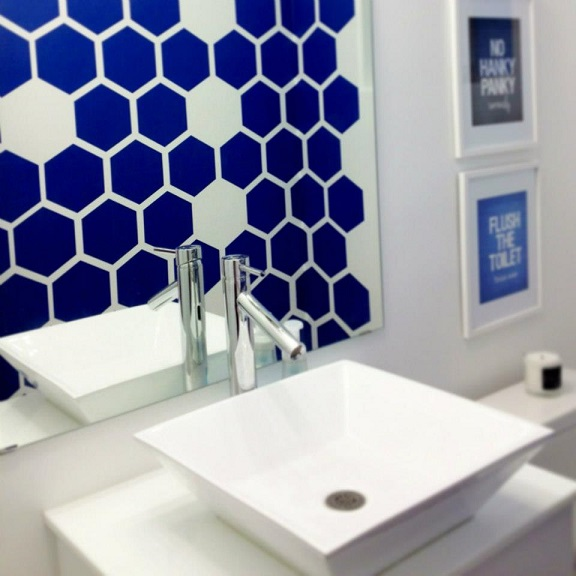 Thank you Haily for sharing your creative spin on our Honeycomb wall decals.