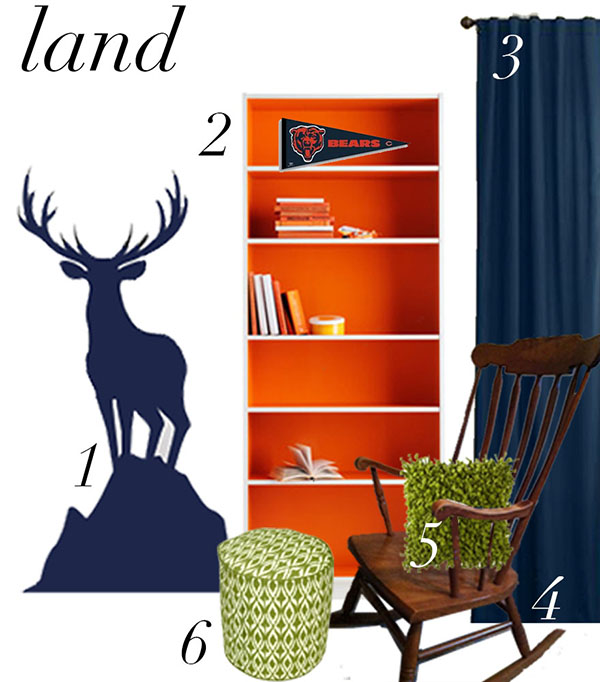 Land collection featuring our Buck wall decal.