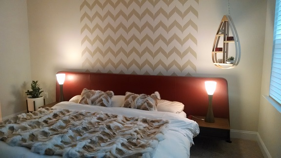Robin did a fantastic job using our Swoopy Chevron wall decals.  Thank you!