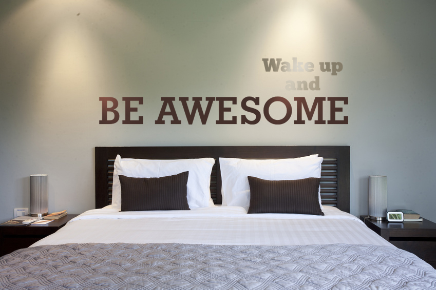 Wall Decal Wake Up and Be Awesome & Wall Decal Wake Up and Be Awesome u2014 Wall Star Graphics