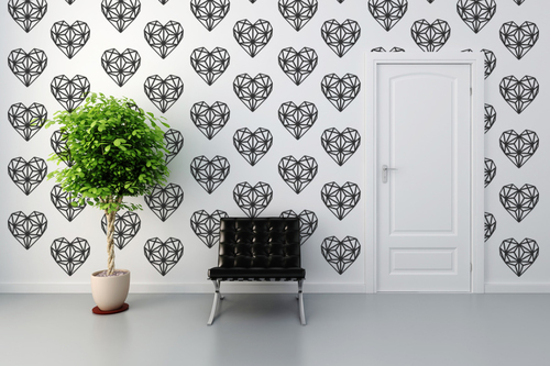 geometric hearts wall decal — wall star graphics