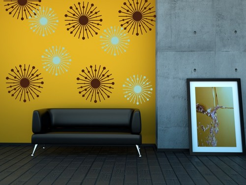 Atomic Starburst Wall Decals — Wall Star Graphics