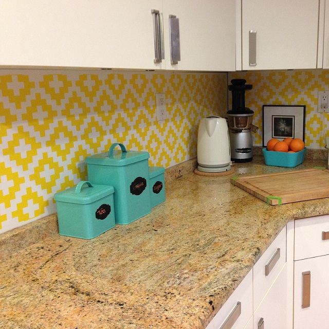 We are in love with the way Heather chose to use our Swiss Diamond wall decals.  Thank you!