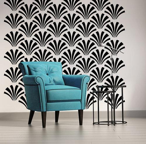 Art Deco Fan Wall Decal — Wall Star Graphics
