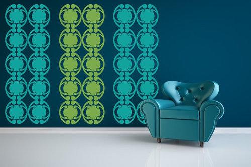 Art Deco Wall Decal Circles — Wall Star Graphics