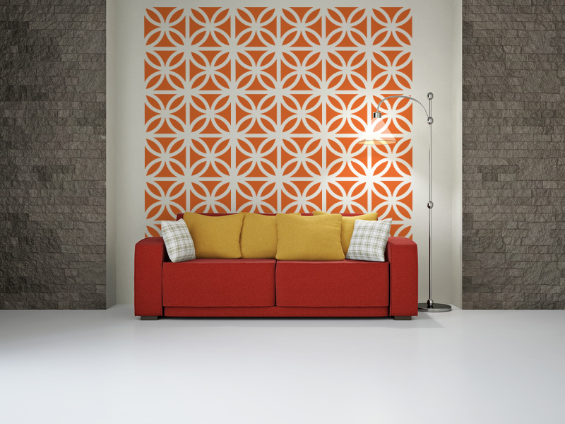 Mid Century Modern Bricks Wall Decals Part 85