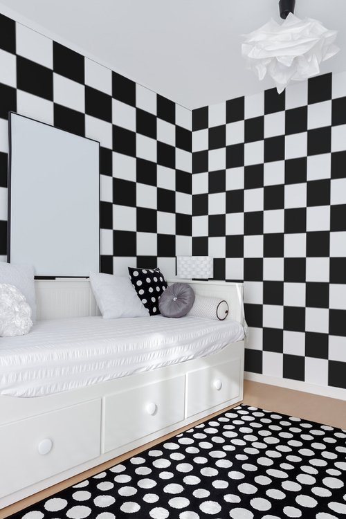 checkered wall decals — wall star graphics