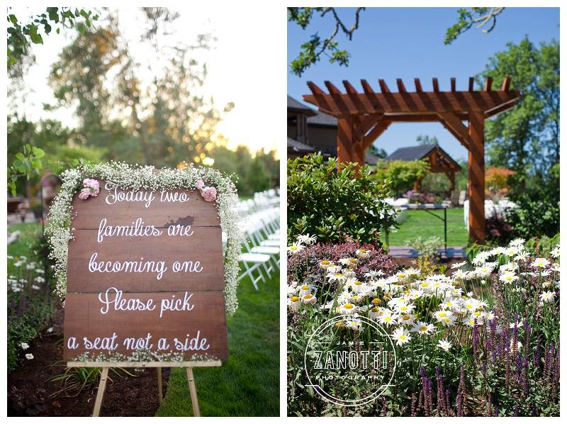 This handmade sign using vintage, reclaimed wood was made with extra love for my daughter's wedding.  Photos courtesy of Jamie Zanoitti Photography.