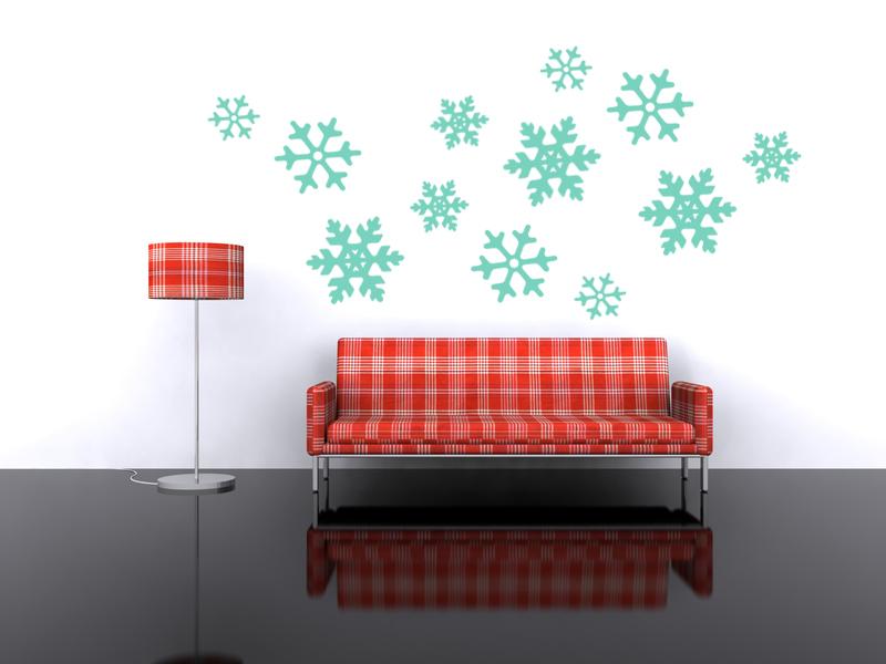Retro Snowflake Wall Decals