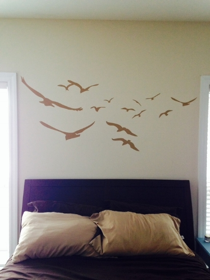 Alicia loves the way her flock of seagulls turned out...so do we!