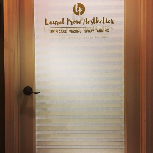 We can help you with your logo for a door or window.  Photo credit:  Laurel Prow