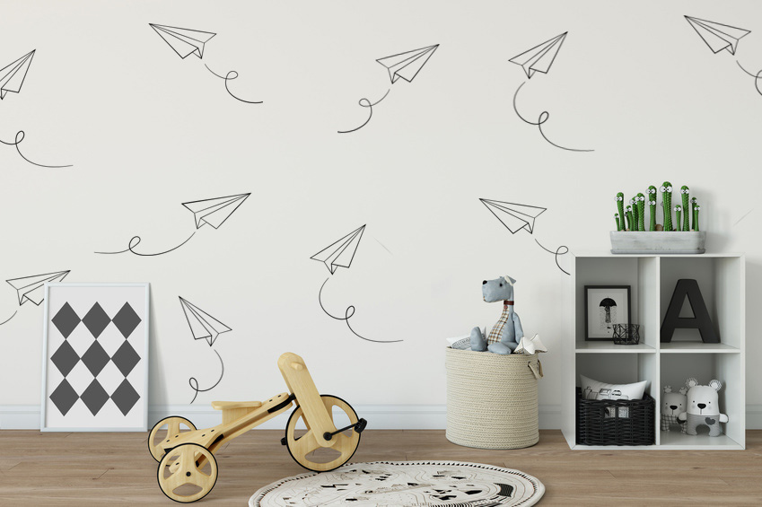 Paper Airplane Wall Decals