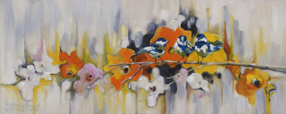Trio with Poppies, 2018