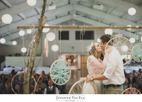 Unique wedding backdrop