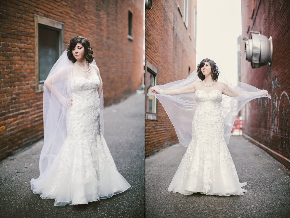 A veil from Simply Bridal.