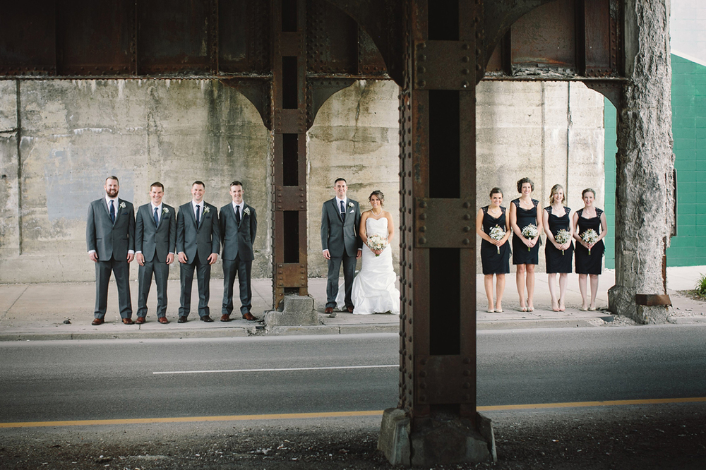 Indiana wedding party portraits
