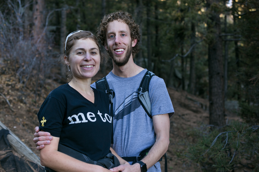 Jason and Mandy on the Manitou Incline