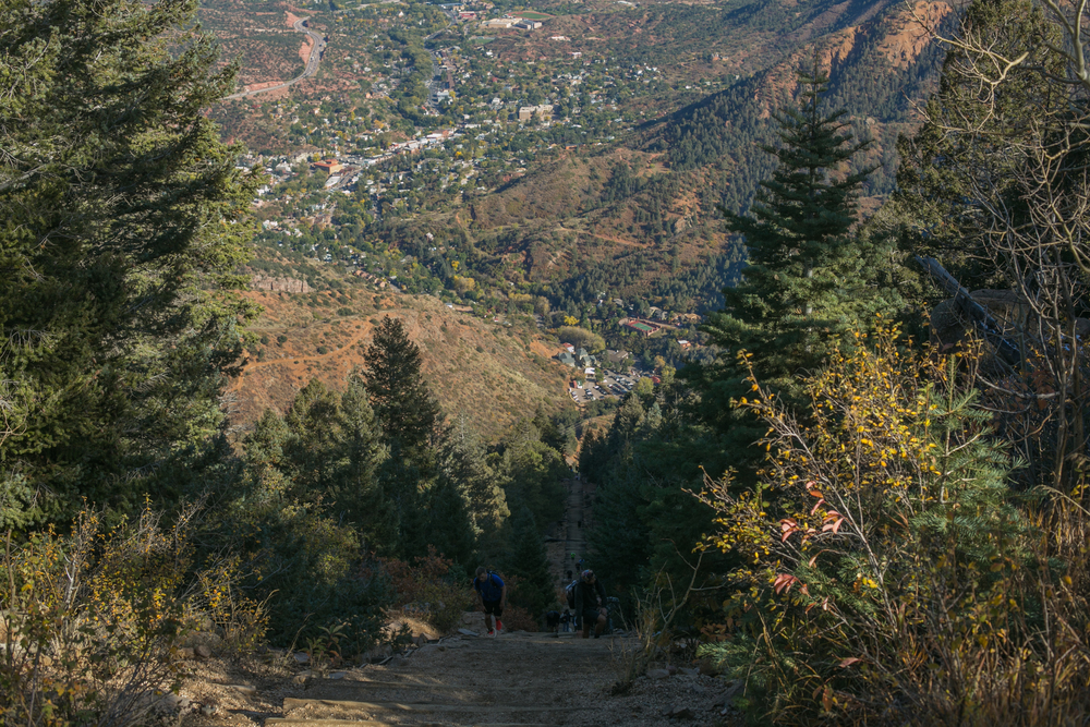 View from the summit of the Manitou Incline