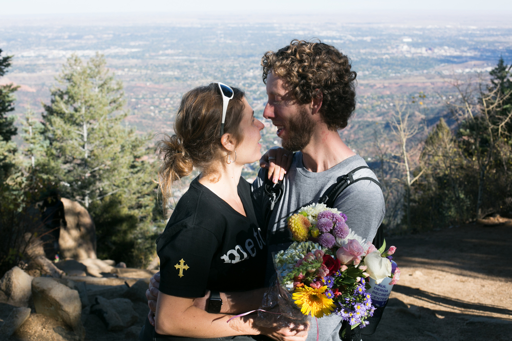 Proposal on the Manitou Incline Summit Photo