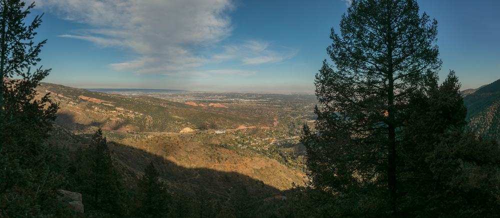 Panorama on the Barr Trail