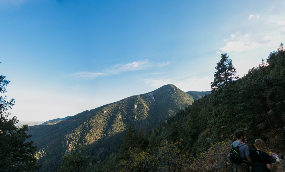 Panorama of Cameron Cone from the Barr Trail